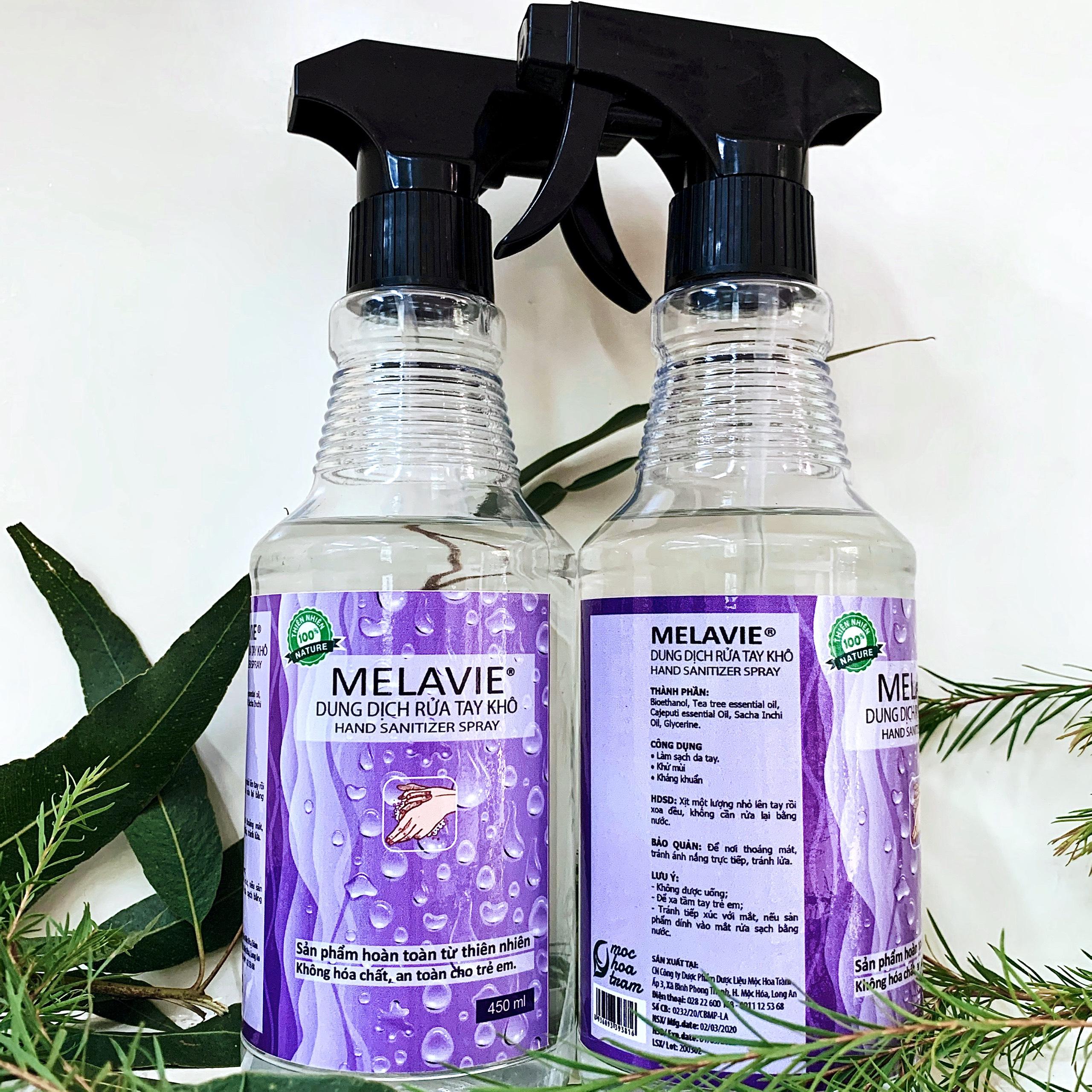 Sát khuẩn khô MELAVIE 450 ML