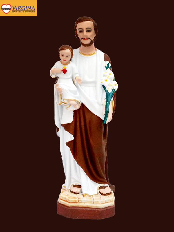 Tượng Composite - Thánh Giuse Bế 15cm