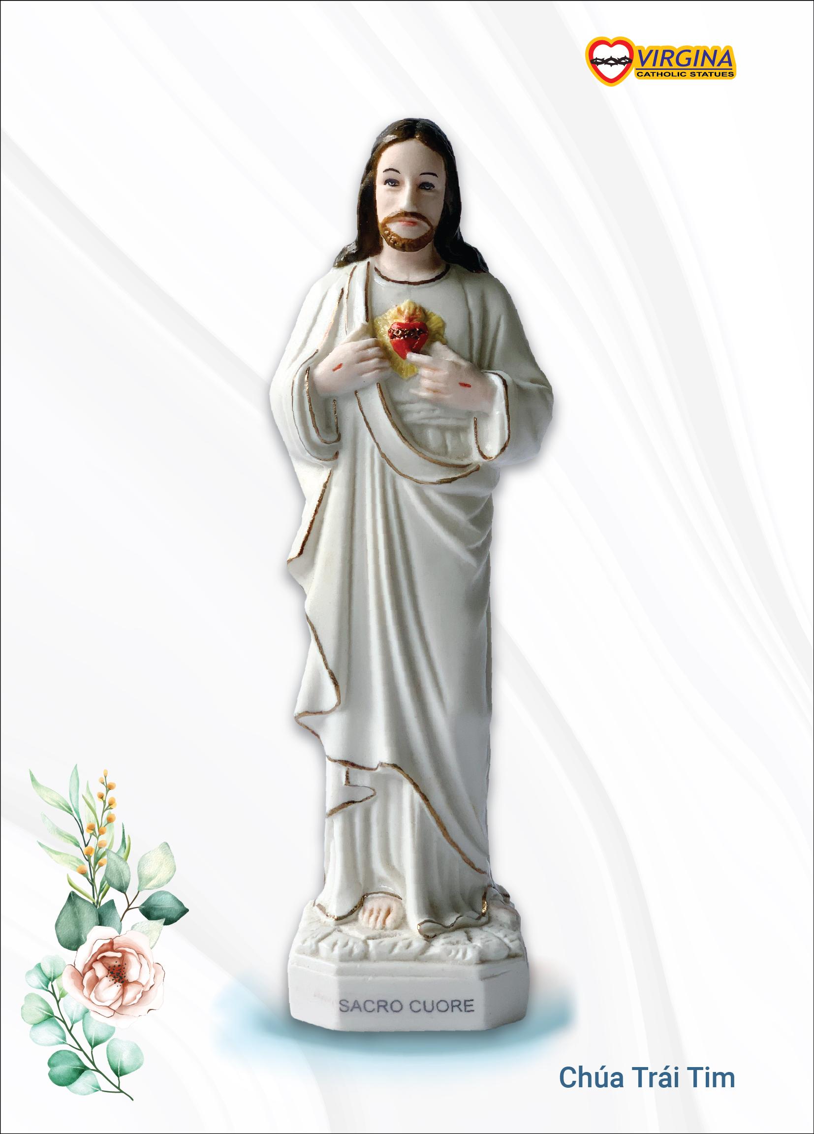 Tượng sứ - Chúa Trái Tim 17cm