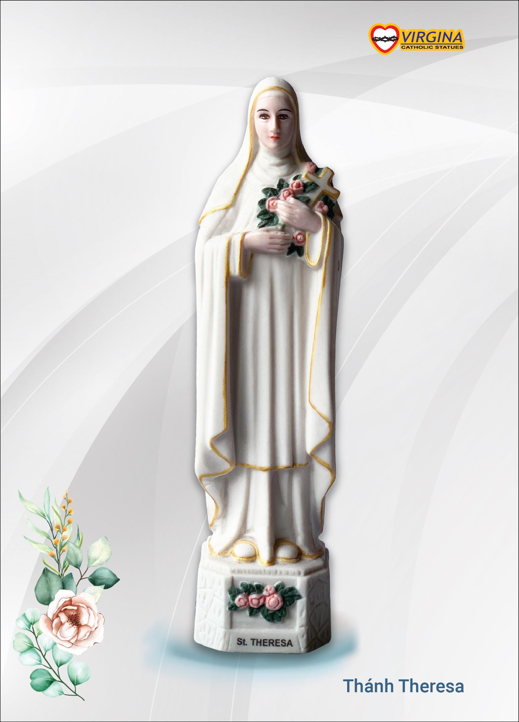 Tượng Sứ - Thánh Teresa  13cm