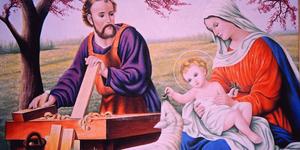 Tranh gia đình Thánh gia đính đá quý