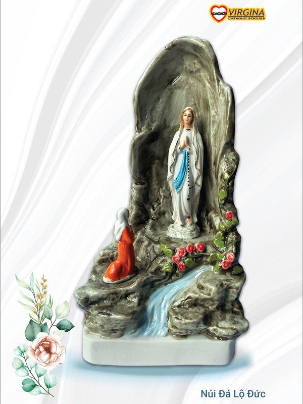Tượng sứ - Núi đá Lộ Đức 15, 20cm