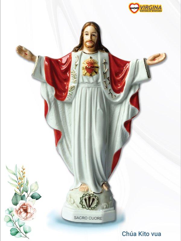 Tượng sứ - Chúa Kito Vua 17cm