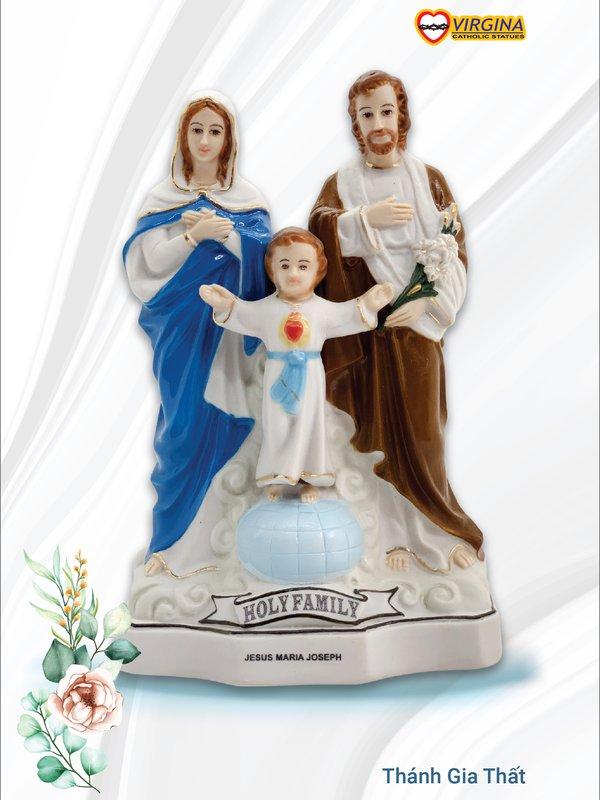 Tượng sứ - Gia Đình Thánh Gia Thất 15cm