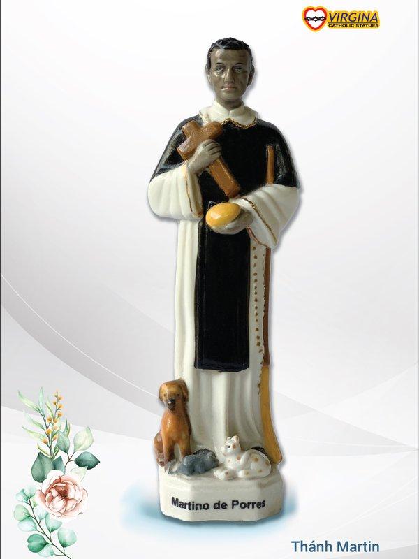 Tượng sứ - Thánh Martin 17cm
