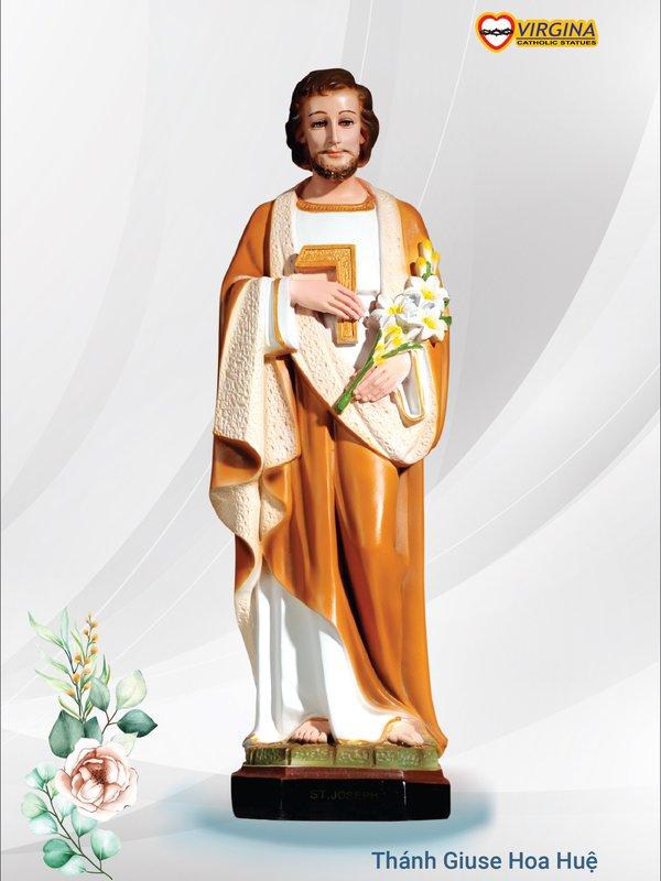 Composite - Thánh Giuse hoa huệ 40cm