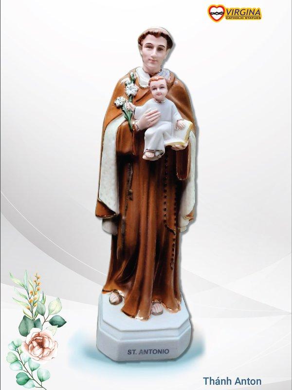Tượng sứ - Thánh Anton 25cm