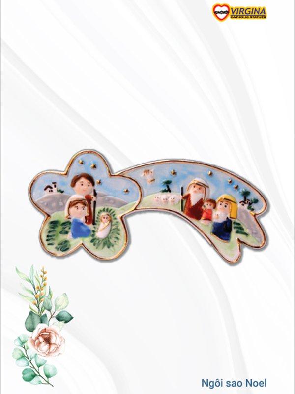 Tượng sứ - Ngôi sao Noel 17cm