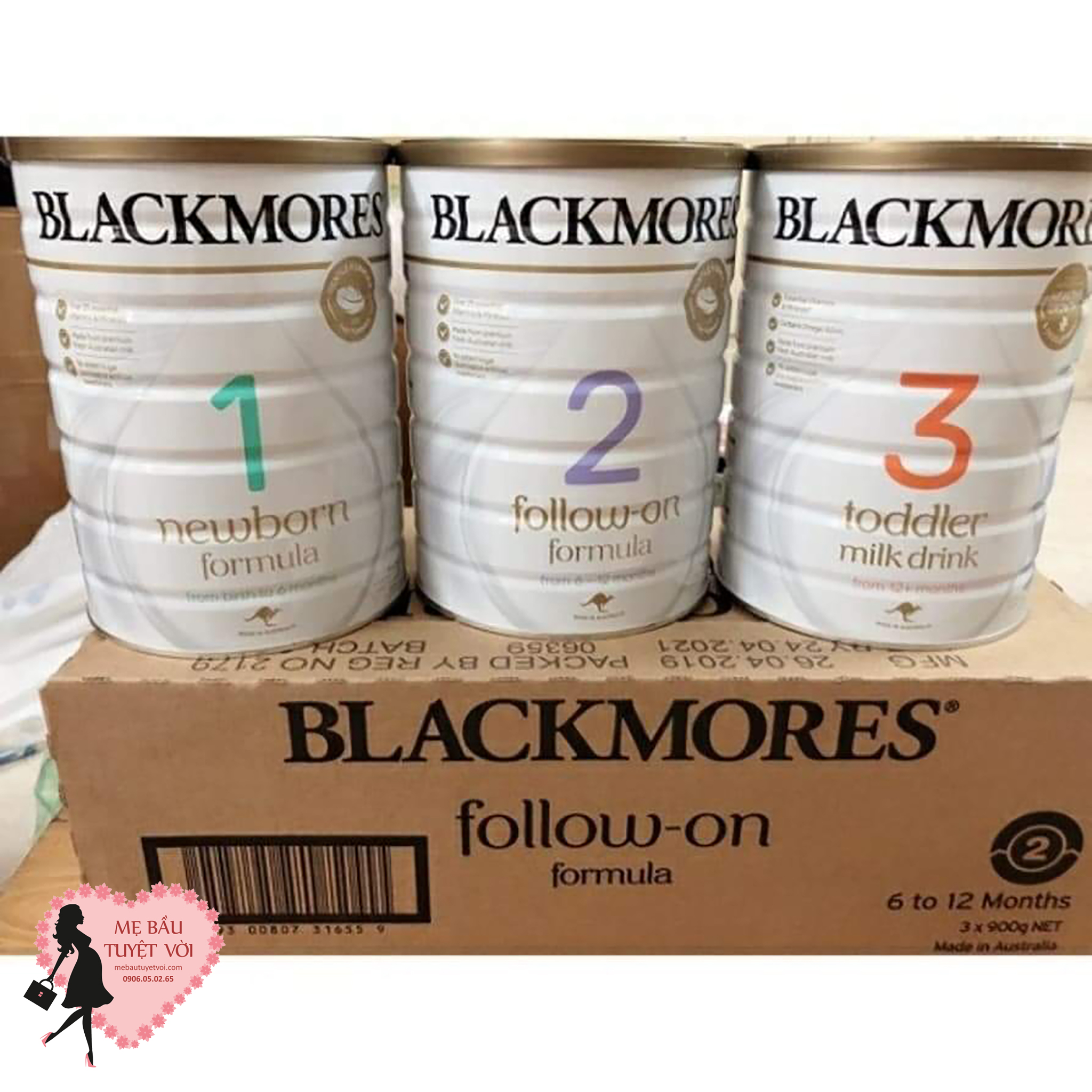 Sữa Blacmores 1, 2, 3