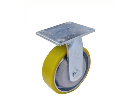 Bánh xe đẩy hàng nhựa PU càng K lõi thép cố định