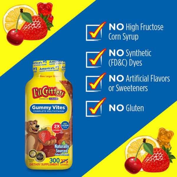 Lọ Kẹo dẻo gummy vite USA bổ sung vitamin cho bé