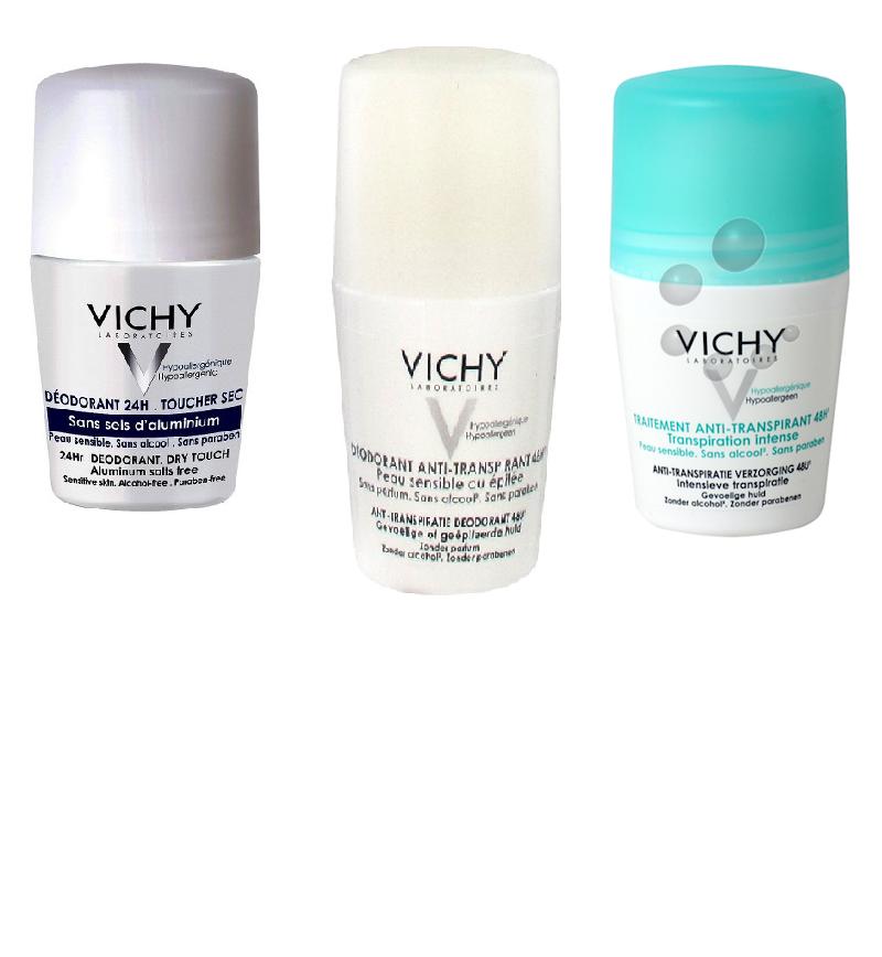 Lăn Hỗ Trợ Khử Mùi Vichy Của Pháp Chính Hãng lưu hương thật lâu lọ 50ML