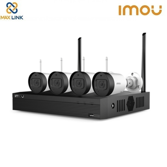 Bộ Kit Camera Wifi 2MP (1 đầu ghi + 4 camera) DAHUA IMOU Wireless Security System KIT/NVR1104HS-W-S2/4-G22