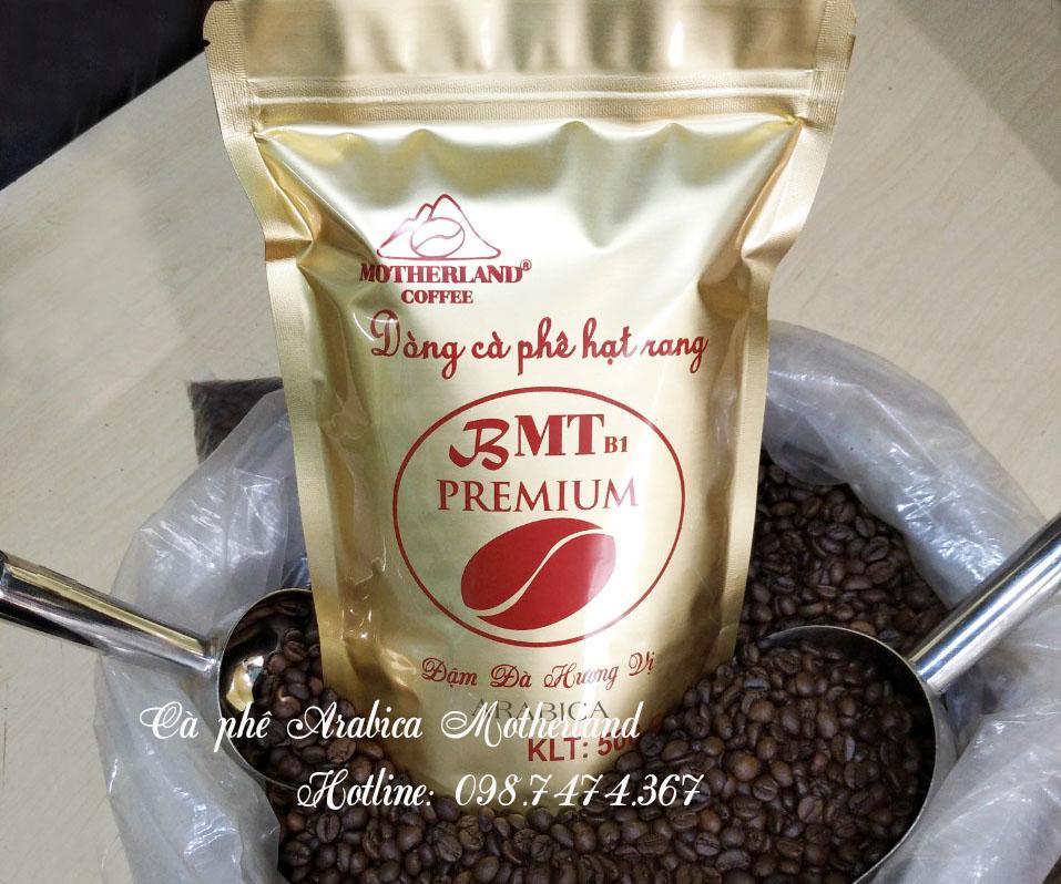 Cà phê hạt rang Arabica Cầu Đất Đà Lạt gói 500g