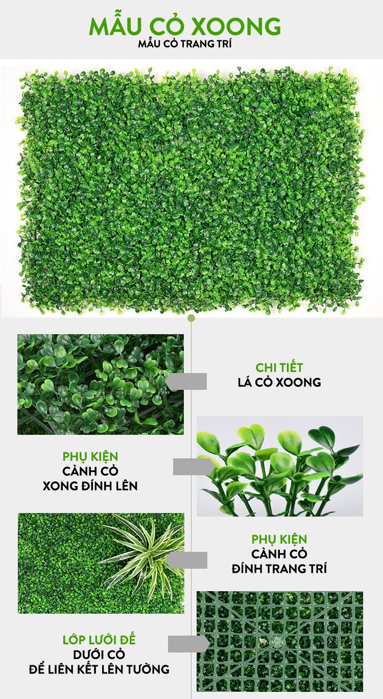 Vách cỏ nhựa trang trí
