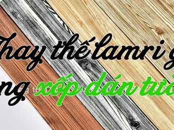 Làm Lamri gỗ đẹp bằng xốp dán tường vân gỗ