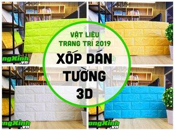 Hé lộ Xốp dán tường 3D, vật liệu trang trí Nội thất Hot nhất 2019