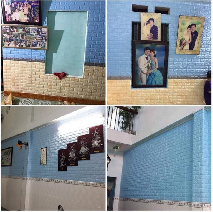 Xốp dán tường trang trí