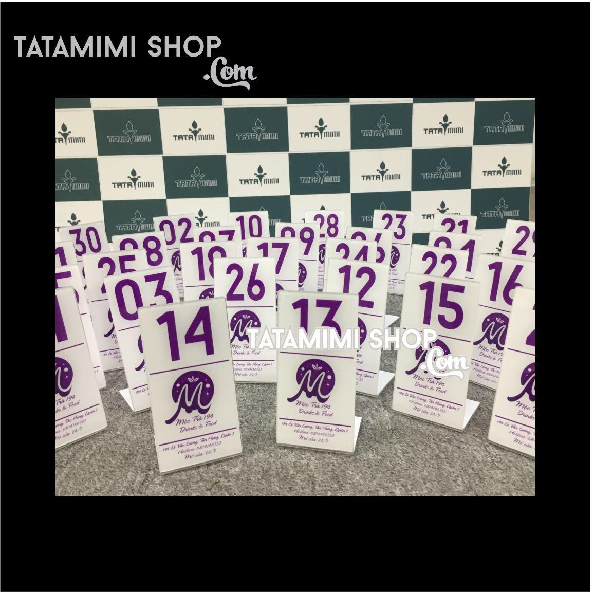 Biển số bàn chữ màu tím   TATAMIMI.COM ?? nhận thiết kế theo yêu cầu