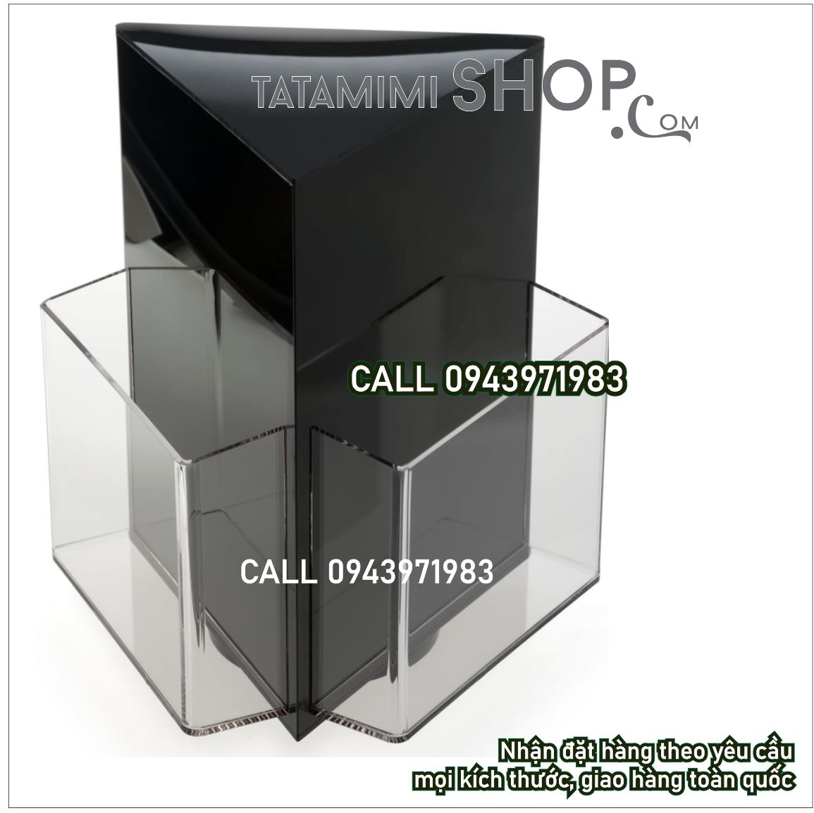 Kệ mica Brochure xoay A5 | TATAMIMI SHOP-❤️❤️