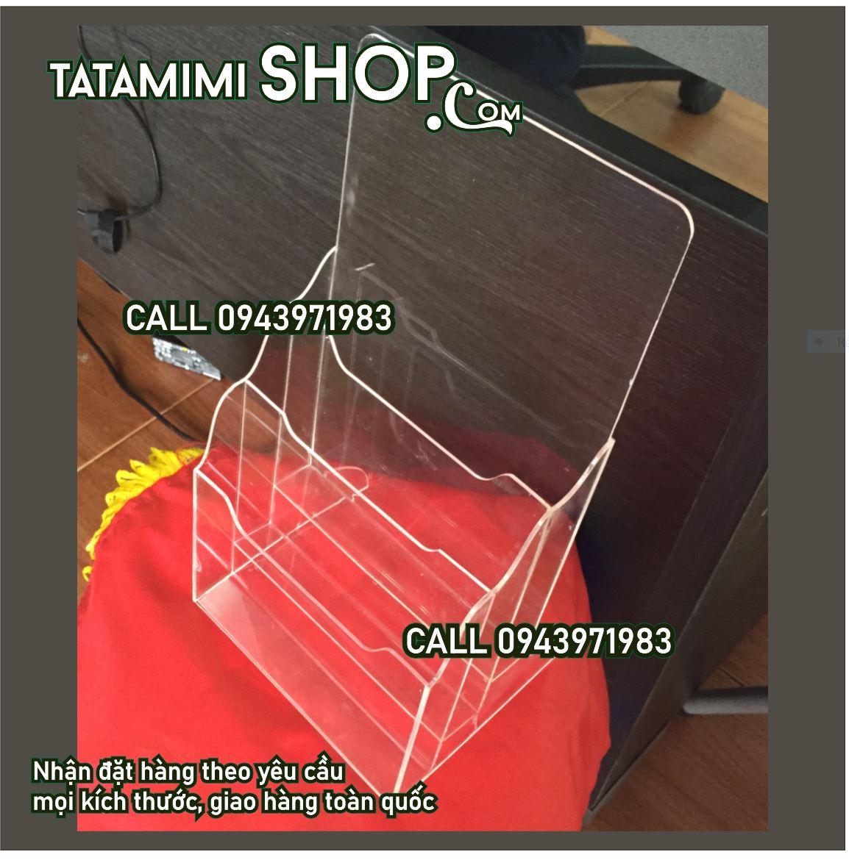 Kệ để tờ rơi A4-3 Ngăn   TATA MIMI SHOP   ≧◔◡◔≦ Chuyên gia công mica