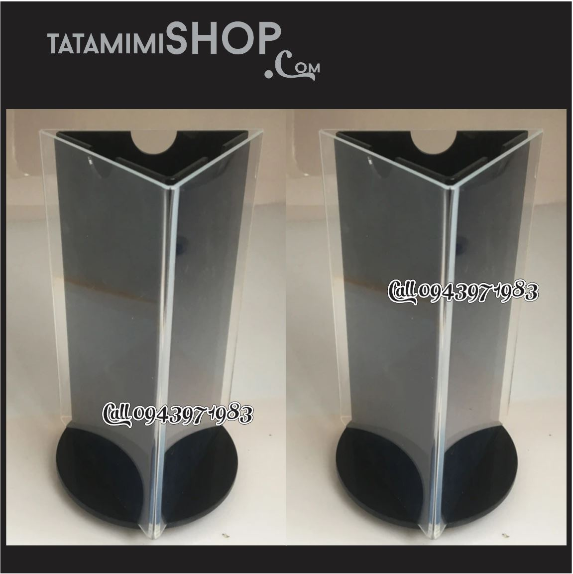 Kệ mica xoay 3 mặt A4 Gập 3 | TATAMIMISHOP.COM