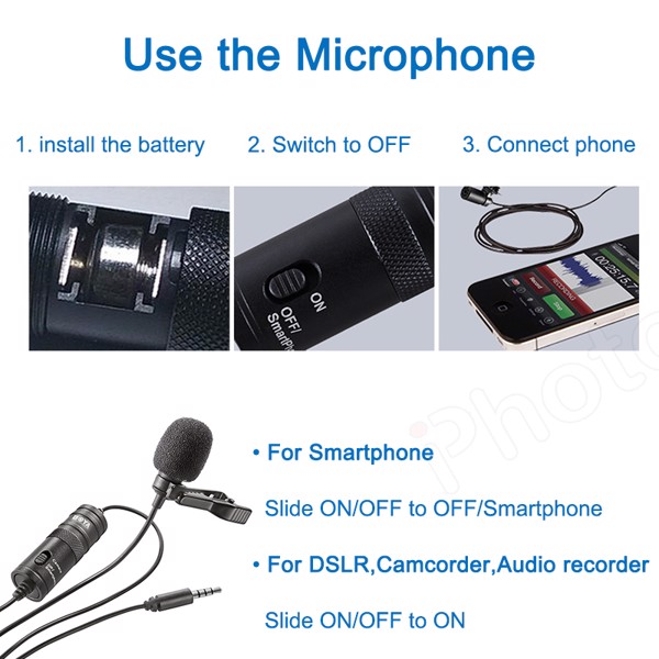 ​​​​​​​Micro K&F Concept Lavalier Microphone Kit M1