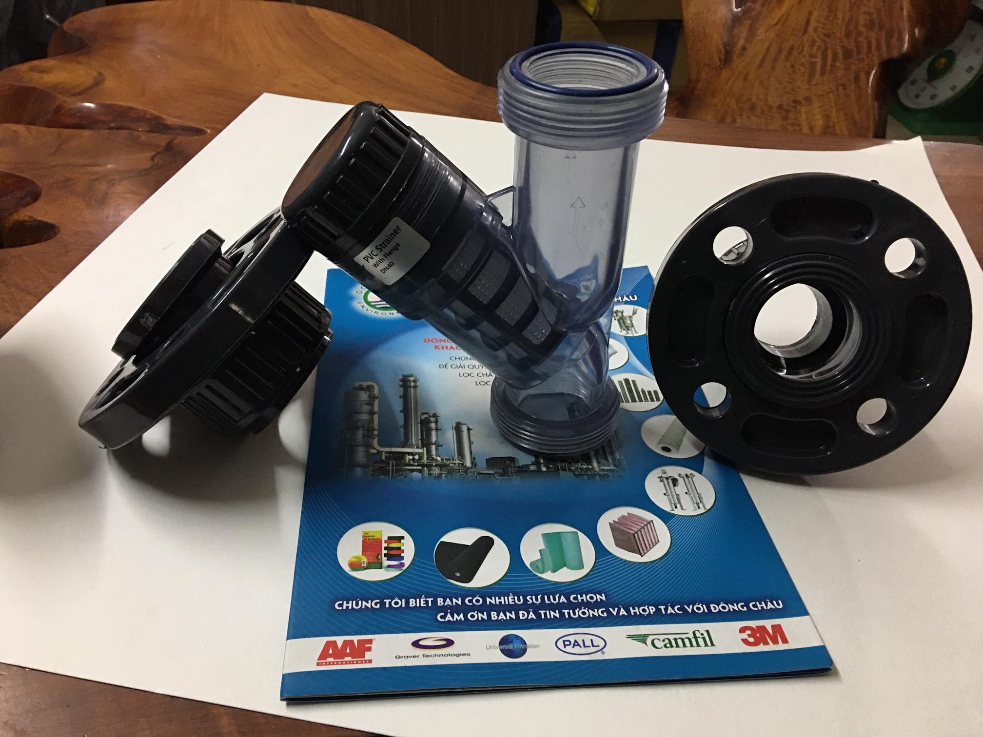 Y Lọc Nhựa Trong UPVC Lọc Đường Ống DN40 Mặt Bích