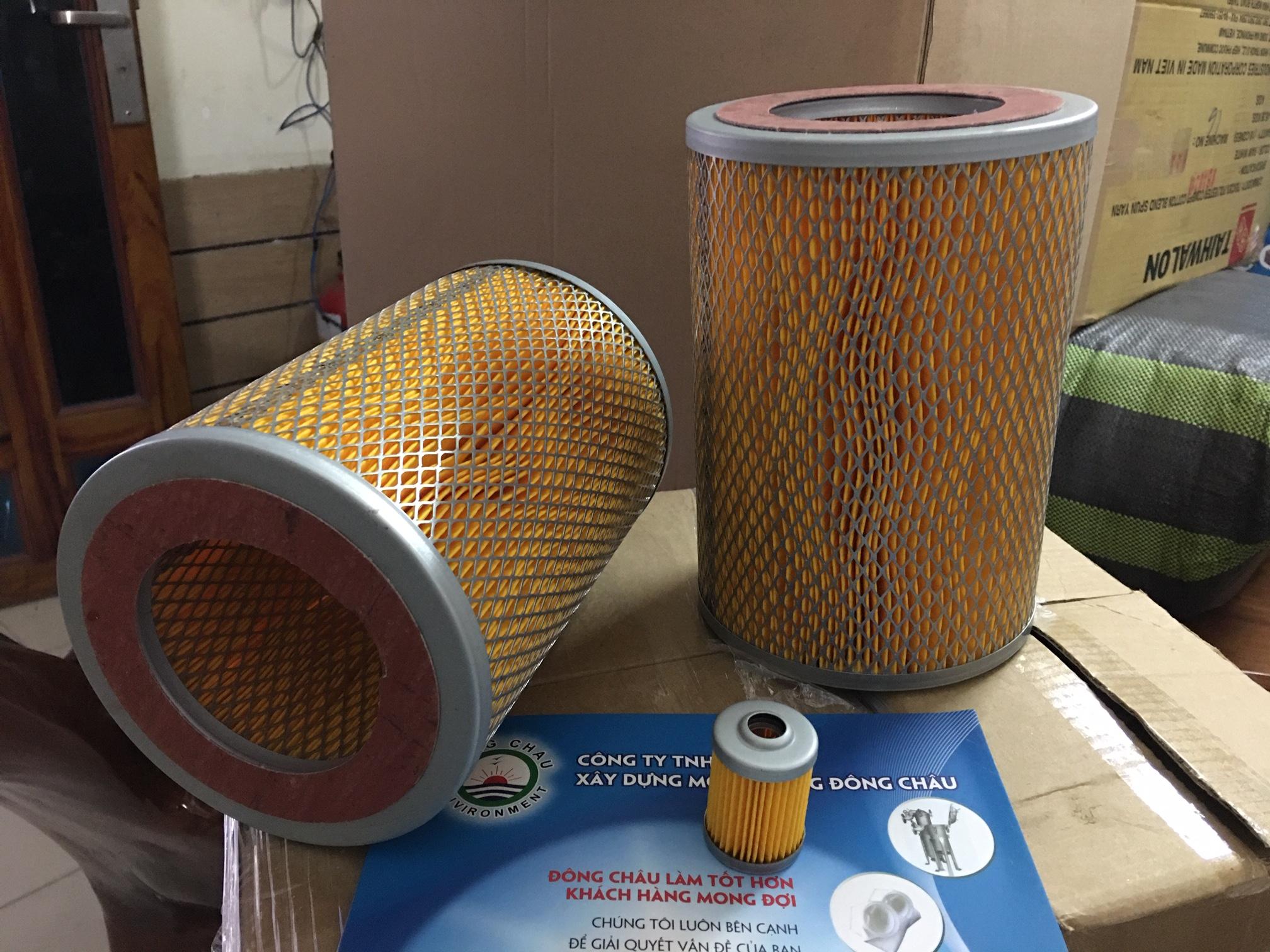 Phin lõi lọc gió 2 mặt lưới cellulozo màu vàng