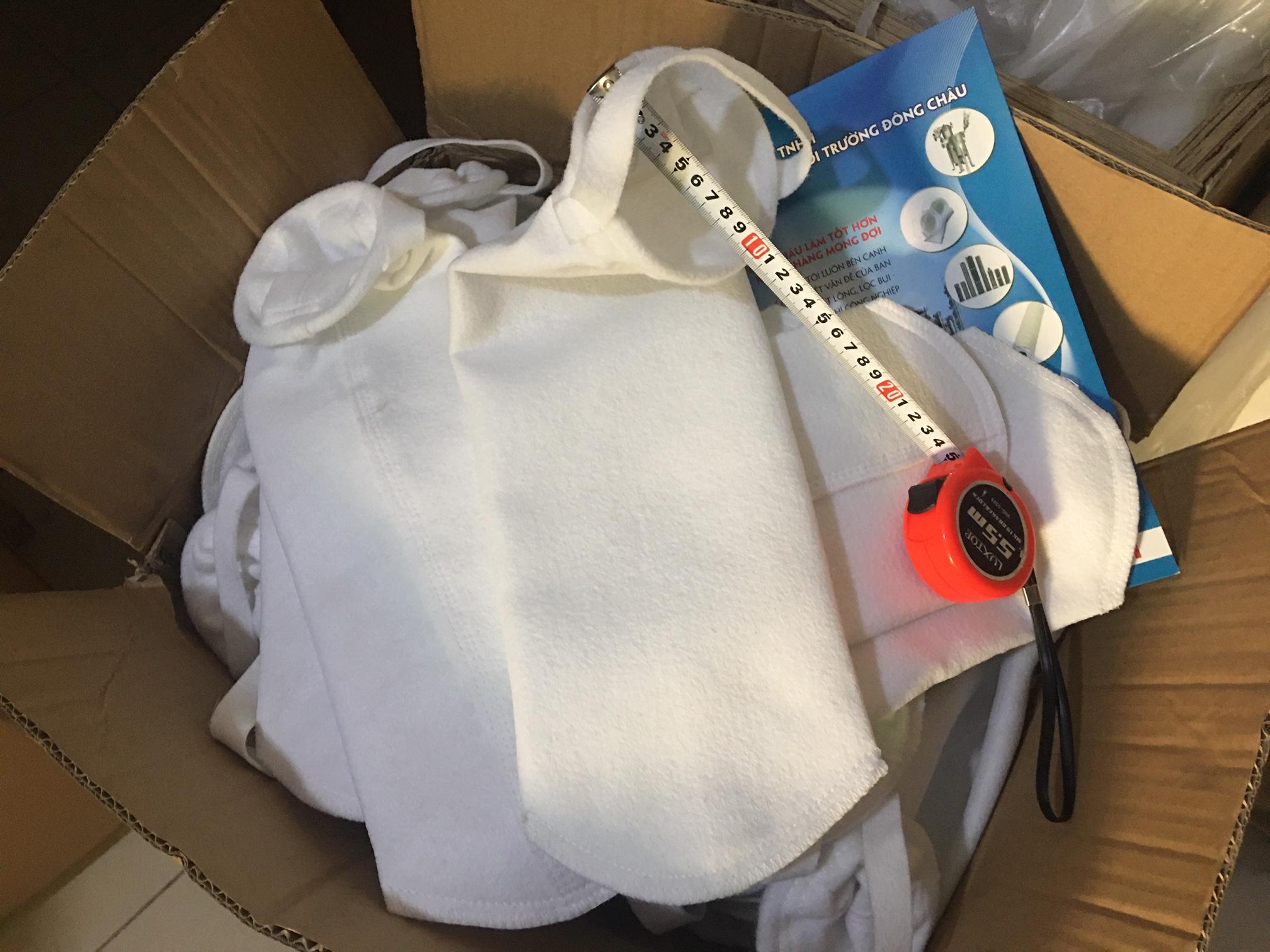 Túi vải lọc polyester vòng inox size 4