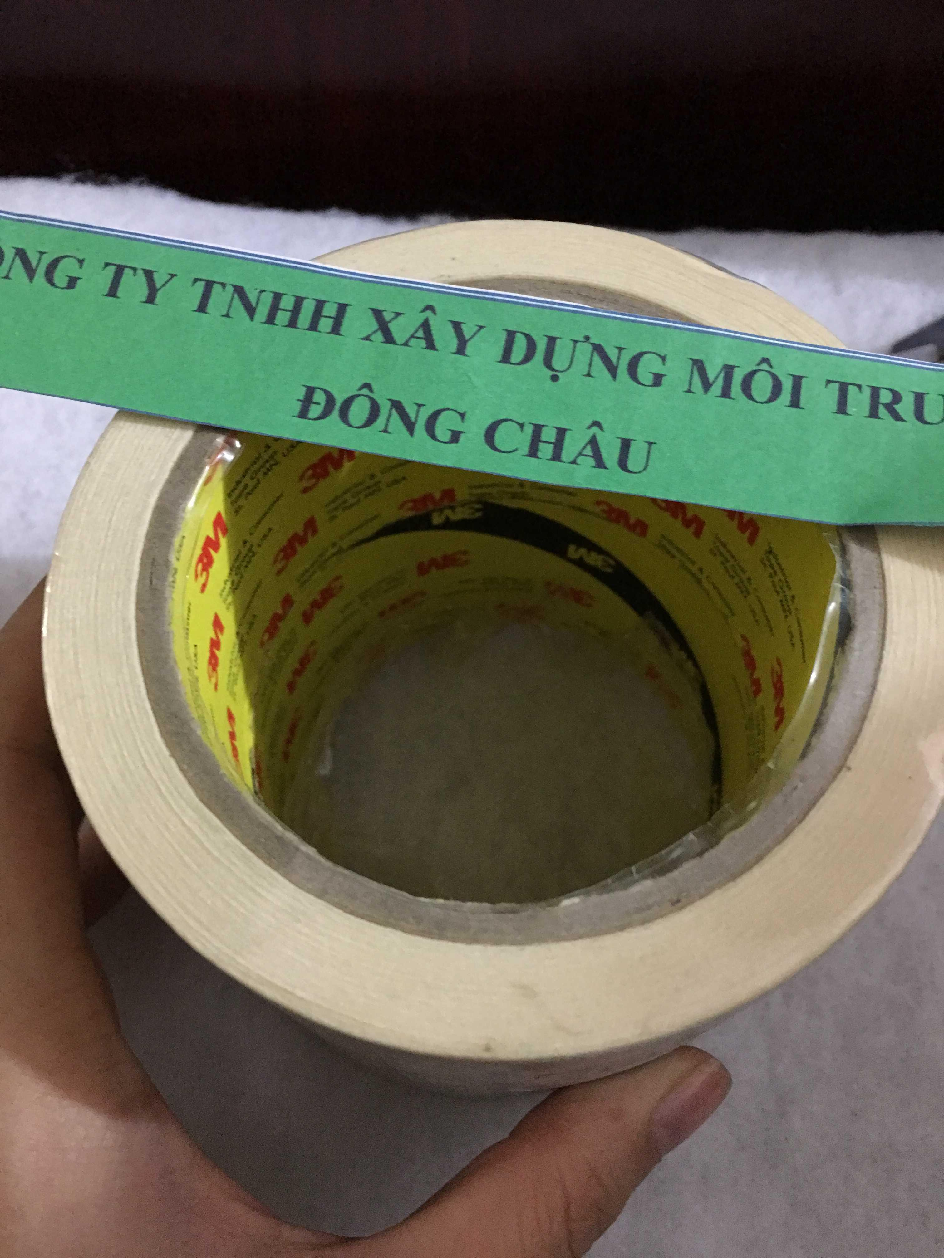 Băng keo giấy che chắn sơn 3M 2600 một mặt