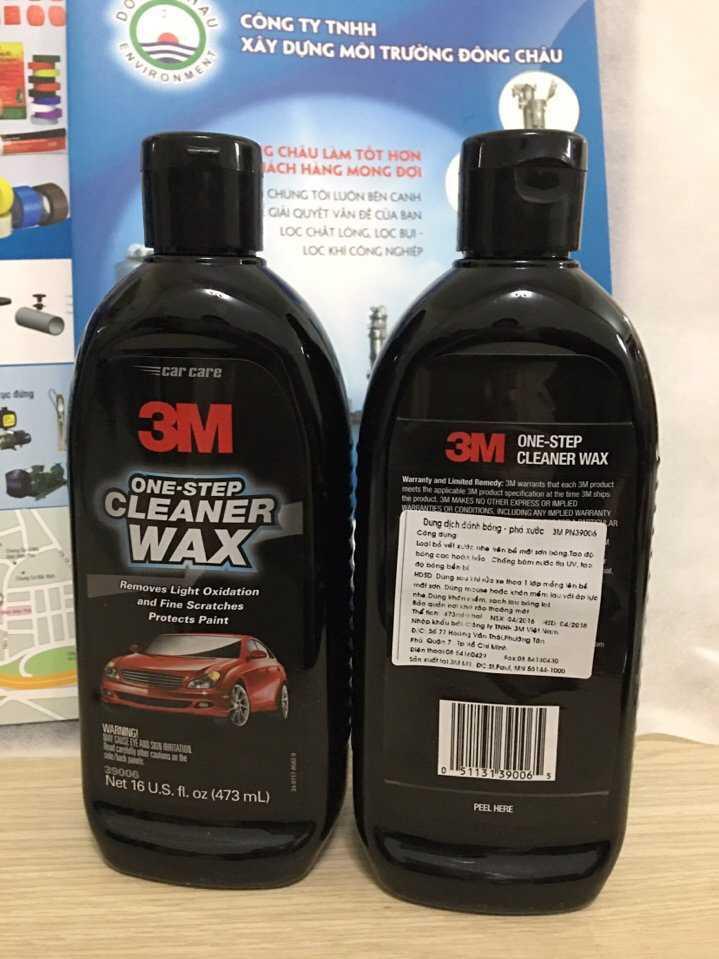 Chai Đánh Bóng Phá Xước 3M cleaner wax 38600