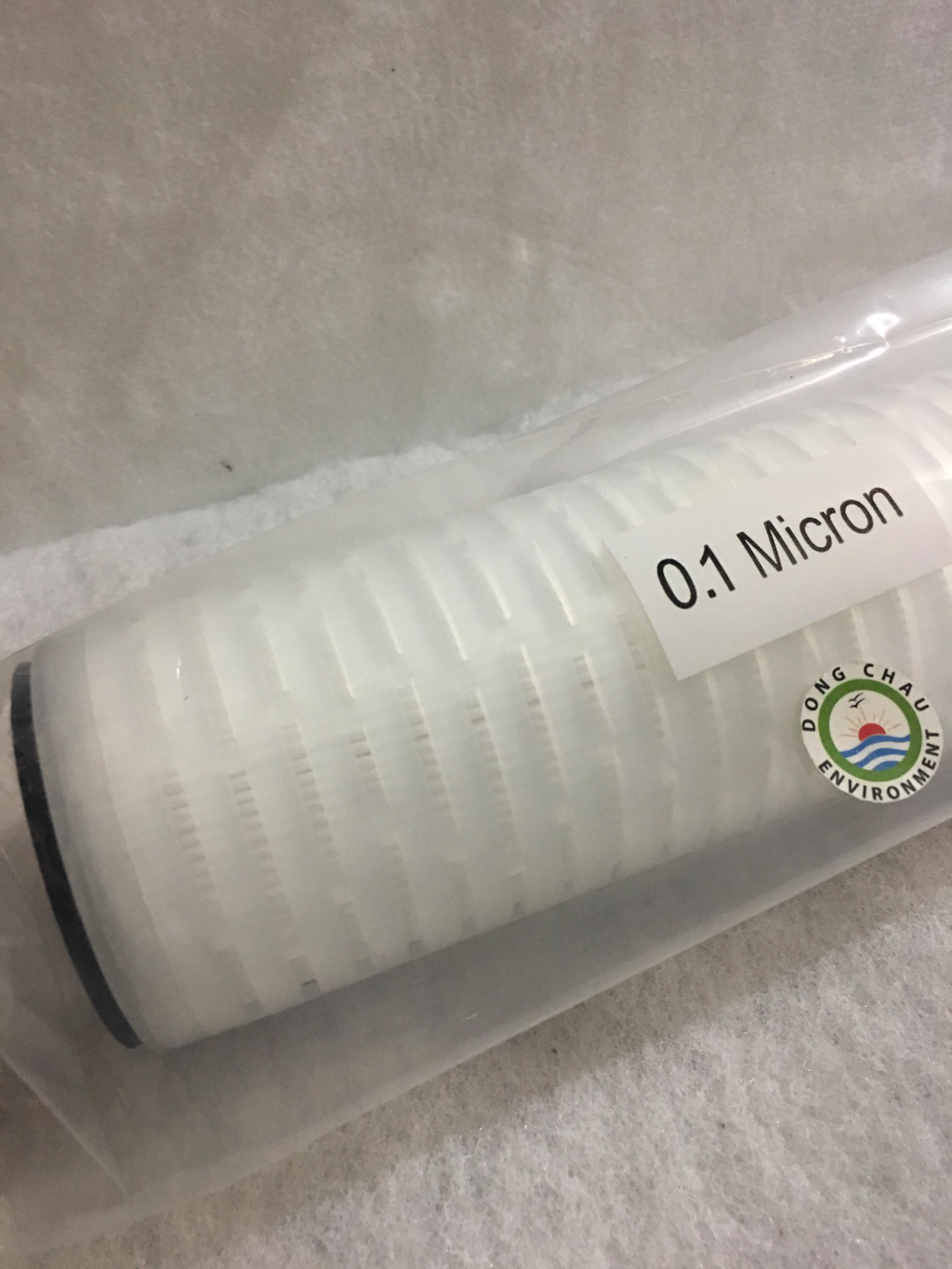 Lõi lọc giấy xếp 0.1 micron 10 inch DOE Clean Green