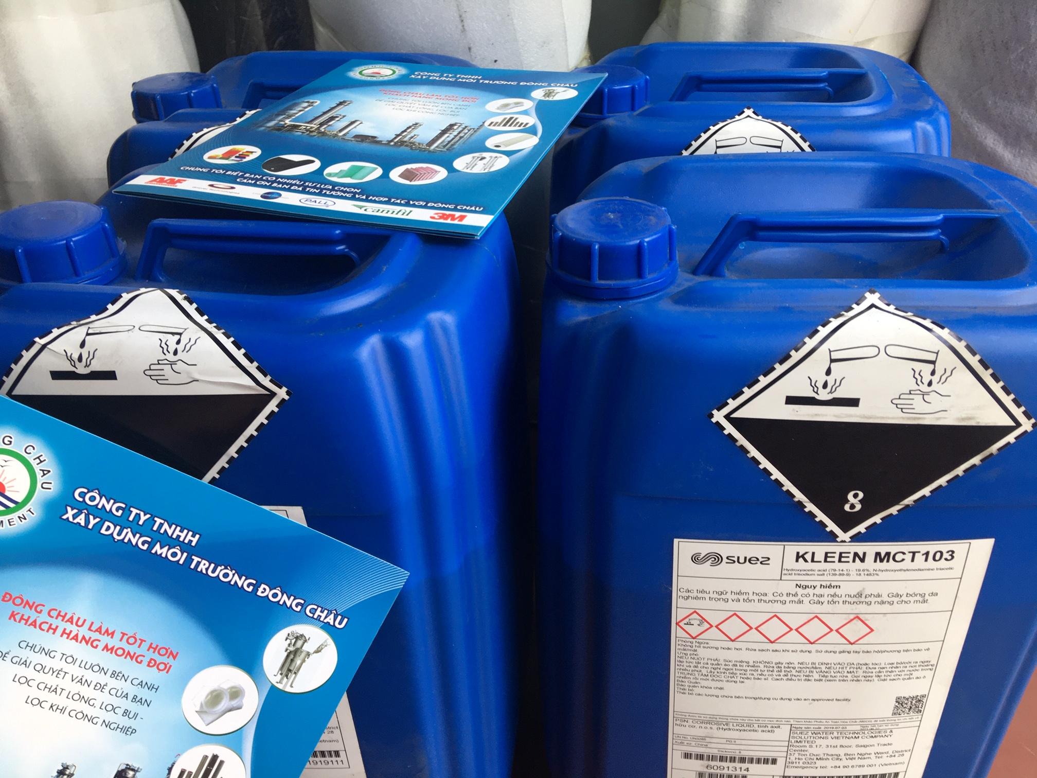 Dung dịch tẩy rửa cáu cặn vô cơ màng RO MCT103