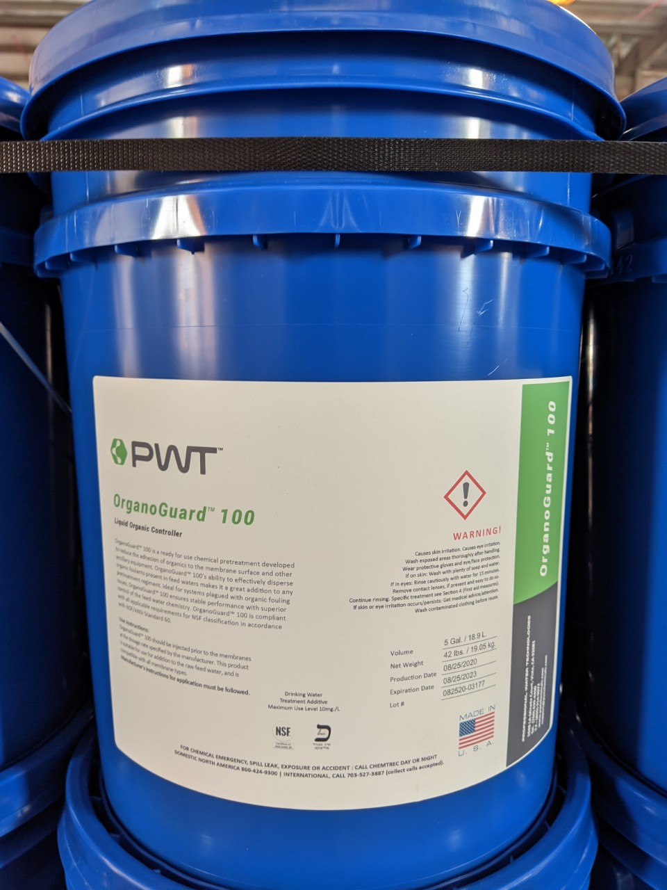 Dung dịch hóa chất chống cáu cặn hữu cơ OrganoGuar 100