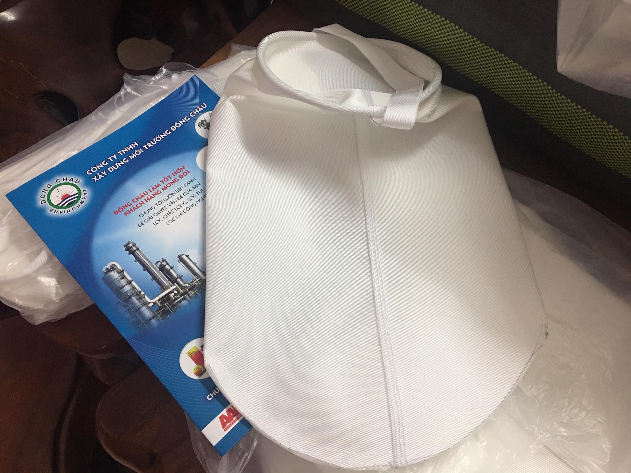 Túi lọc vải dệt PP vòng inox