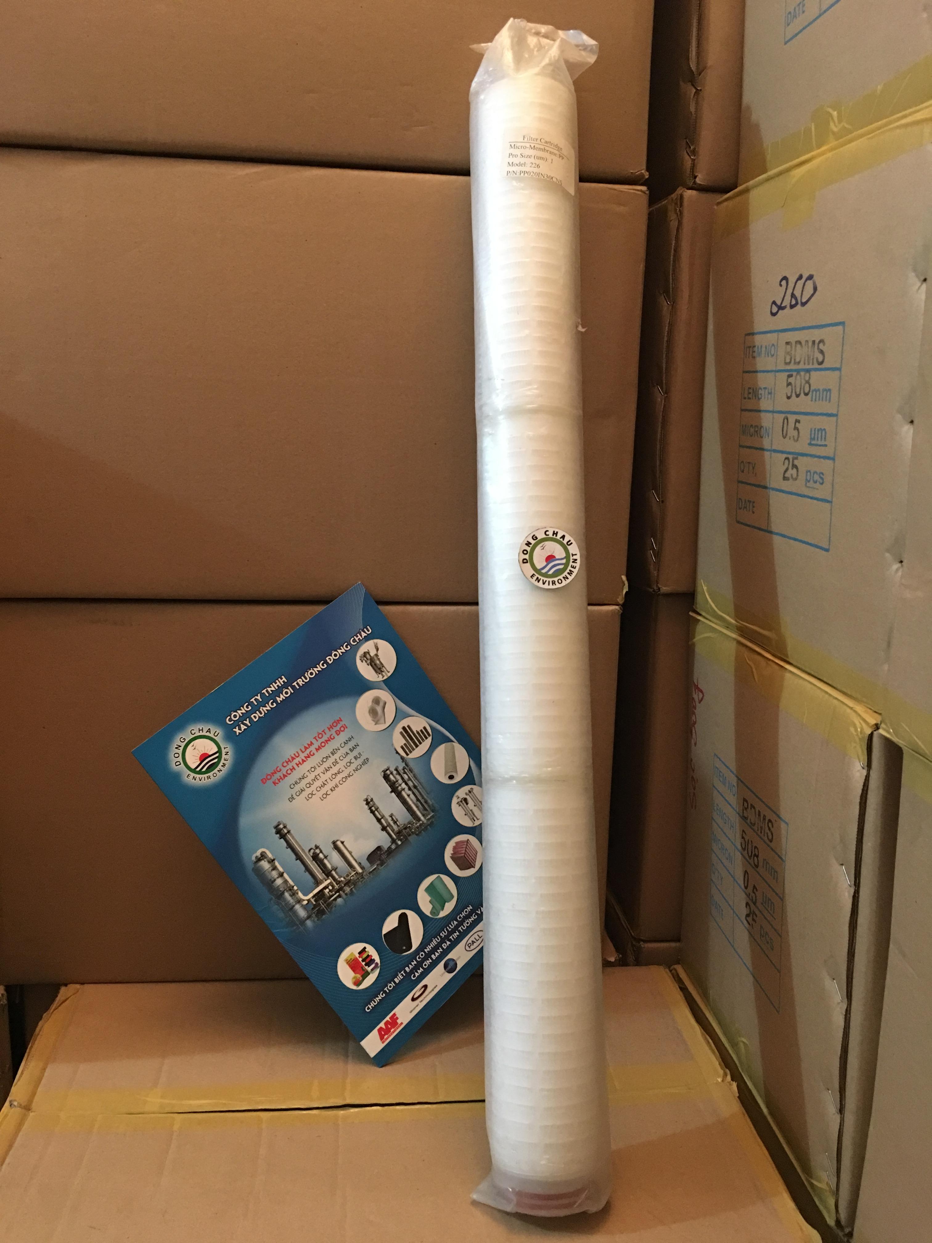 Lõi lọc giấy xếp 1 micron 30 inch oring 226