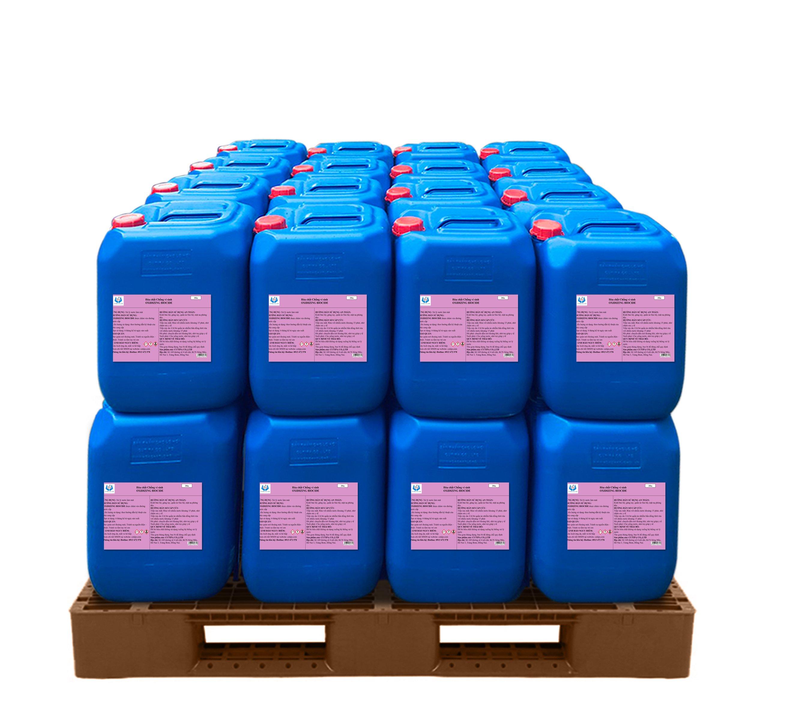 Hóa chất chống vi sinh dùng cho tháp giải nhiệt Oxydizing Biocide