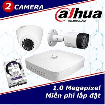Camera Trọn Gói 2 Camera DAHUA 1.0mp