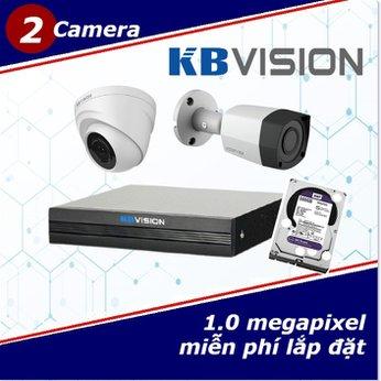 Camera Trọn Gói 2 Camera KBVISON 1.0mp