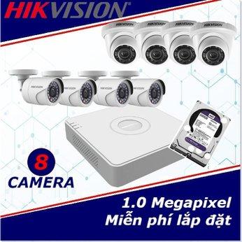 Camera Trọn Gói 8 Camera HIKVISION 1mp HD