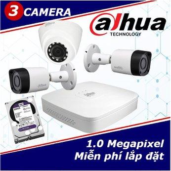 Camera Trọn Gói 3 Camera DAHUA 1.0mp