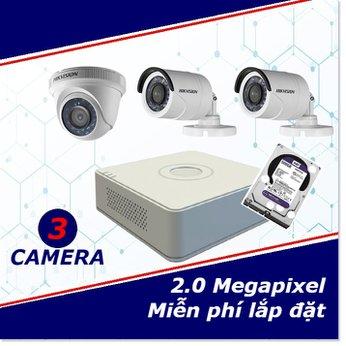Camera trọn gói 3 camera 2 mp full HD