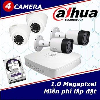 Camera Trọn Gói 4 Camera DAHUA 1.0mp