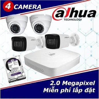 Camera Trọn Gói 4 Camera DAHUA 2.0mp