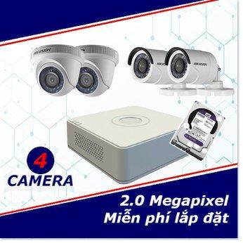 Camera Trọn Gói 4 Camera 2 mp full HD