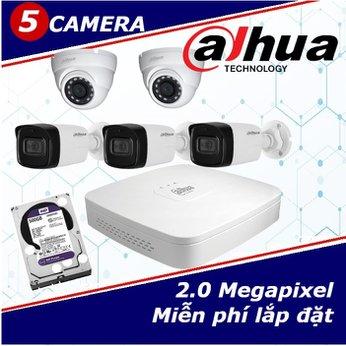 Camera Trọn Gói 5 Camera DAHUA 2.0mp