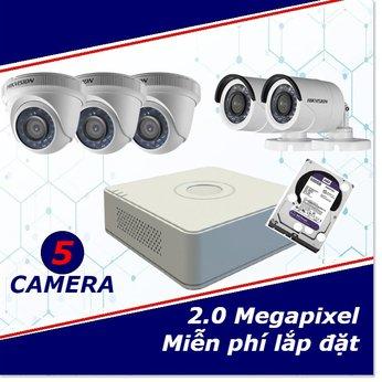 Camera trọn gói 5 camera 2 mp full HD