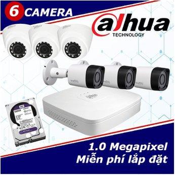 Camera Trọn Gói 6 Camera DAHUA 1.0mp