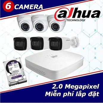 Camera Trọn Gói 6 Camera DAHUA 2.0mp